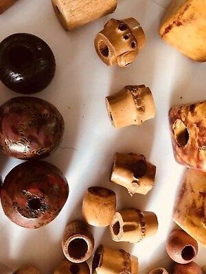 Lot of 3 Vintage Ceramic Macrame Beads 3