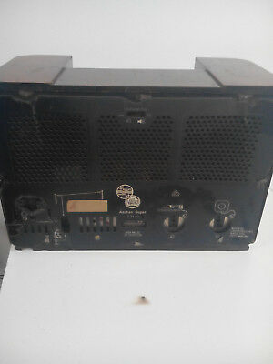Radio vintage de madera Philips años 40 2
