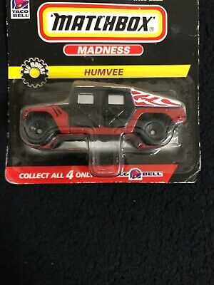Vintage Matchbox Madness TACO BELL HUMVEE 1:64 Die Cast Car Truck 1998 - 1 of 4 3