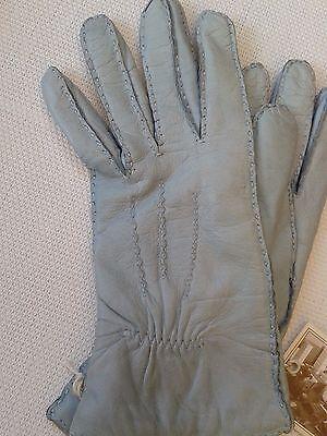 Guanti Donna in pelle col. carta da zucchero tg 6 Gloves Originali Lusso 4
