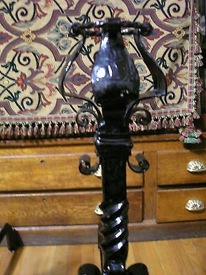 Monumental Pair of Antique Arts And Crafts Wrought Iron Andirons 4