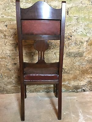 Antique Leather Hall Chair 4