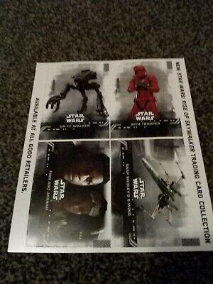 Topps Star Wars The Rise Of Skywalker Promo Sheet Uncut Mint 2
