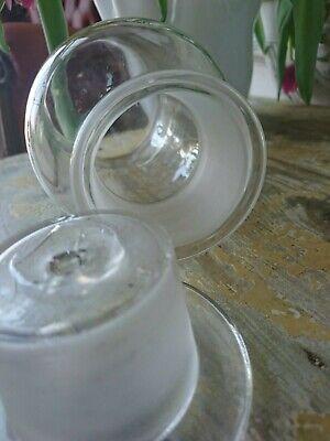 Apotheker antik Glas Flasche Apothekerflasche Etikett gemalt super als Vase 7