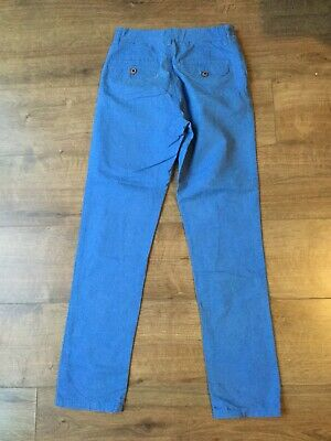 Next Boy's Blue Chino Trousers - Adjustable Waist - Age 12 Years 2