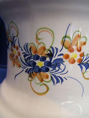 Lampe A Petrole Contemporaine En Faience A Decor Floral, Avec Son Verre. Ref 801