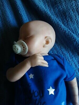 "19 ""handmade Vinyl Reborn Baby Doll *NEW* With Blanket, Passie and clothes"" 2"