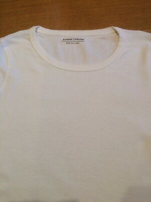 M&S Ladies Long Sleeve Crew Neck T Shirt Pure Cotton,sz 6-24,free postage 7