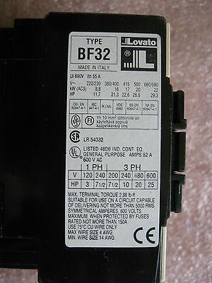 Lovato BF9.01  Coil 120//60HZ  3p Contactor 1NC AUX