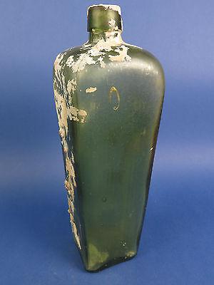 Alte Glasflasche mit Lufteinschlüssen, 19.Jhr.Meeresfund.Tolles Objekt. 3