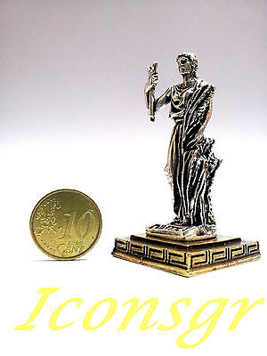 Ancient Miniature Greek Olympian God Pantheon Sculpture Statue Zamac Demeter S