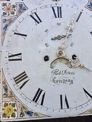 Oak & Mahogany Longcase Grandfather Clock Rolling Moon Robert jones Conwy 11