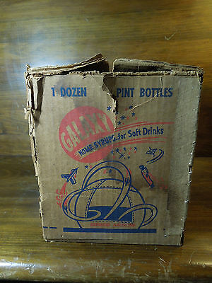 Vintage Galaxy Home Syrups for Soft Drinks Box - Retro Sci Fi Space Age Design