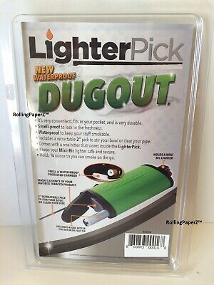New! BLACK LIGHTERPICK Tobacco Dugout Smoking System - Water Tight & Smell Proof 3