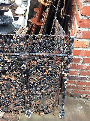 One Matched Pair Very Ornate Cast-Iron Radiator Covers Antique 7