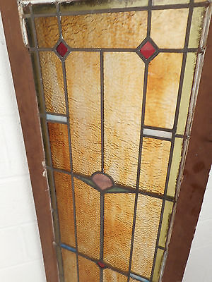 Tall Vintage Stained Glass Window Panel (2885)NJ 4
