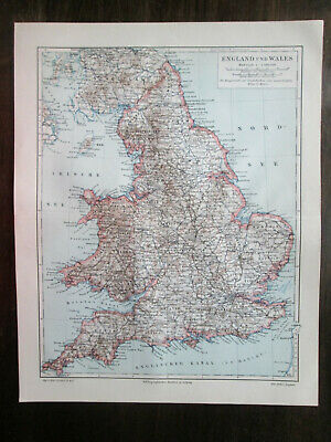 Antique map. ENGLAND & WALES. 1905 2