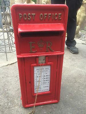 ER Royal Mail Post Box  ERII pillar box Red cast iron post box post office box 2