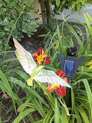 SOLAR POWERED DANCING Butterfly Dragonfly Hummingbird Garden yard ...