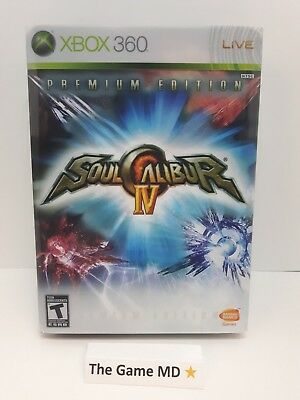 Soul Calibur IV 4 -- Premium Edition (Microsoft Xbox 360, 2008) NTSC 2