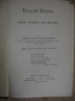 English Hymns: Their Authors and History with Samuel W. Duffield ALS 3