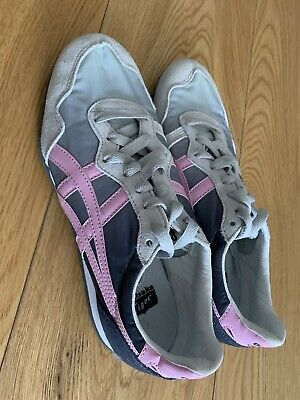 Onitsuka tiger Women Serrano Grey Pink New Size Trainers UK 3.5 USA 5.5 Rrp £80 2