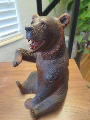 Superb old big Swiss Brienz Black Forest Hand Carved Bear 7