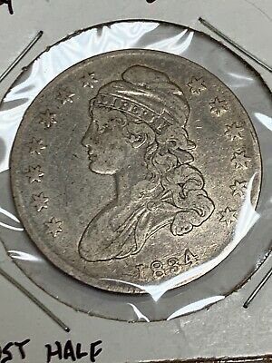 1834 Small Date Capped Bust Silver Half Dollar 4