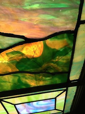 Antique Stained Glass 11 Foot Good Shepherd Window 10