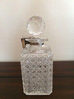 Antique Decanter Crystal & Silver 2