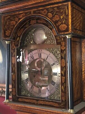 Antique Marquetry English Longcase Grandfather Clock 8 Day Museum Quality 6