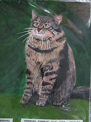 "C175   Original Acrylic Painting By Ljh        ""Pixie Bob""    Cat  Kitten 3"