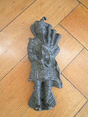 Old Brass bag pipe player door knocker 3