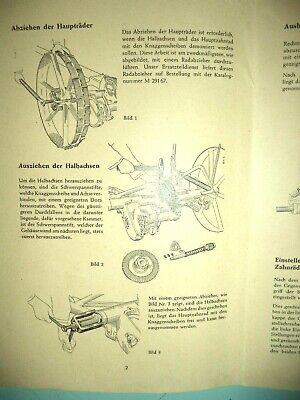 Werkstatt-Hinweise Mc.Cormick,Gespanngrasmäher D-10,1952,kein Lanz! 2