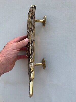 """2 ANGEL WINGS14"""" hollow brass door PULL Polished wings PULL handle 36 cm B 4"""
