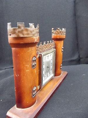 Rare BAYARD castlle wood clock; 2