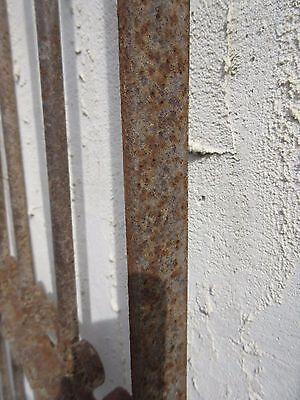 Antique Victorian Iron Gate Window Garden Fence Architectural Salvage Door #341 6