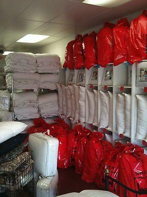 King Pillows (Pair) 30% Duck Down, Australian Made Pure Luxury Cotton Fabric