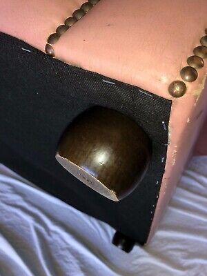 1 Luxury Handmade Vintage Leather Chesterfield Sofa 2 Seater Settee Salmon Pink 7