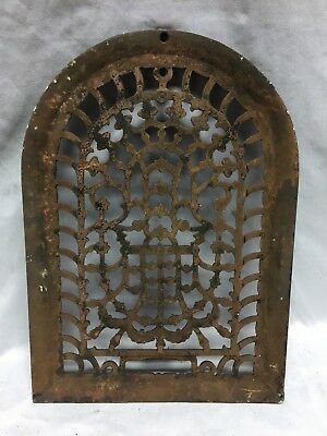 One Antique Arched Top Heat Grate Grill Stars Flowers Pattern Arch 10X14 634-18C 4