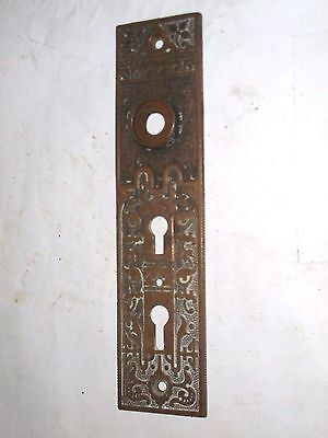 Antique Victorian Era Double Keyhole Door Knob Backplate  stamped 511 1/2 4