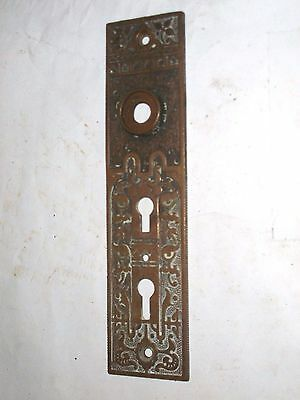 Antique Victorian Era Double Keyhole Door Knob Backplate  stamped 511 1/2
