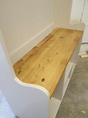 Handmade solid Pine 3ft Hall Stand Shoe Storage Coat Hooks Farrow and Ball 4