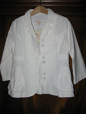 Catimini white suit jacket  ** AGE 4 ** BNWT 2