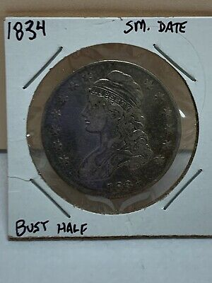 1834 Small Date Capped Bust Silver Half Dollar 3