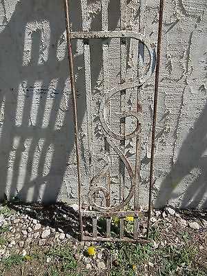 Antique Victorian Iron Gate Window Panel Fence Architectural Salvage Door #400 3