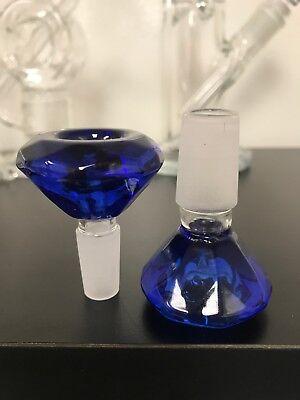 BIG Diamond Glass Slide Bowl  14mm 18mm all colors USA Fast Free Shipping 3
