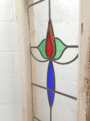 Vintage Stained Glass Window Panel (2816)NJ 5