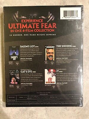 King Of Horror 4 Movie Collection Blu Ray NEW Canada w Slip Cover IT Shining 2