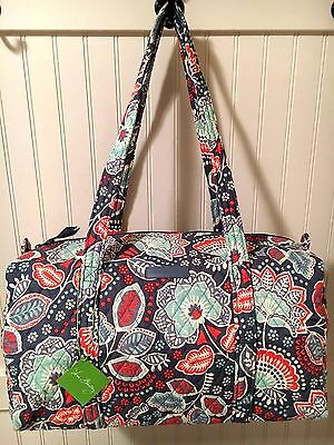 64a23db68d 1 of 12 Vera Bradley NOMADIC FLORAL SMALL   LARGE DUFFEL and COSMETIC SET  Bag Travel NWT